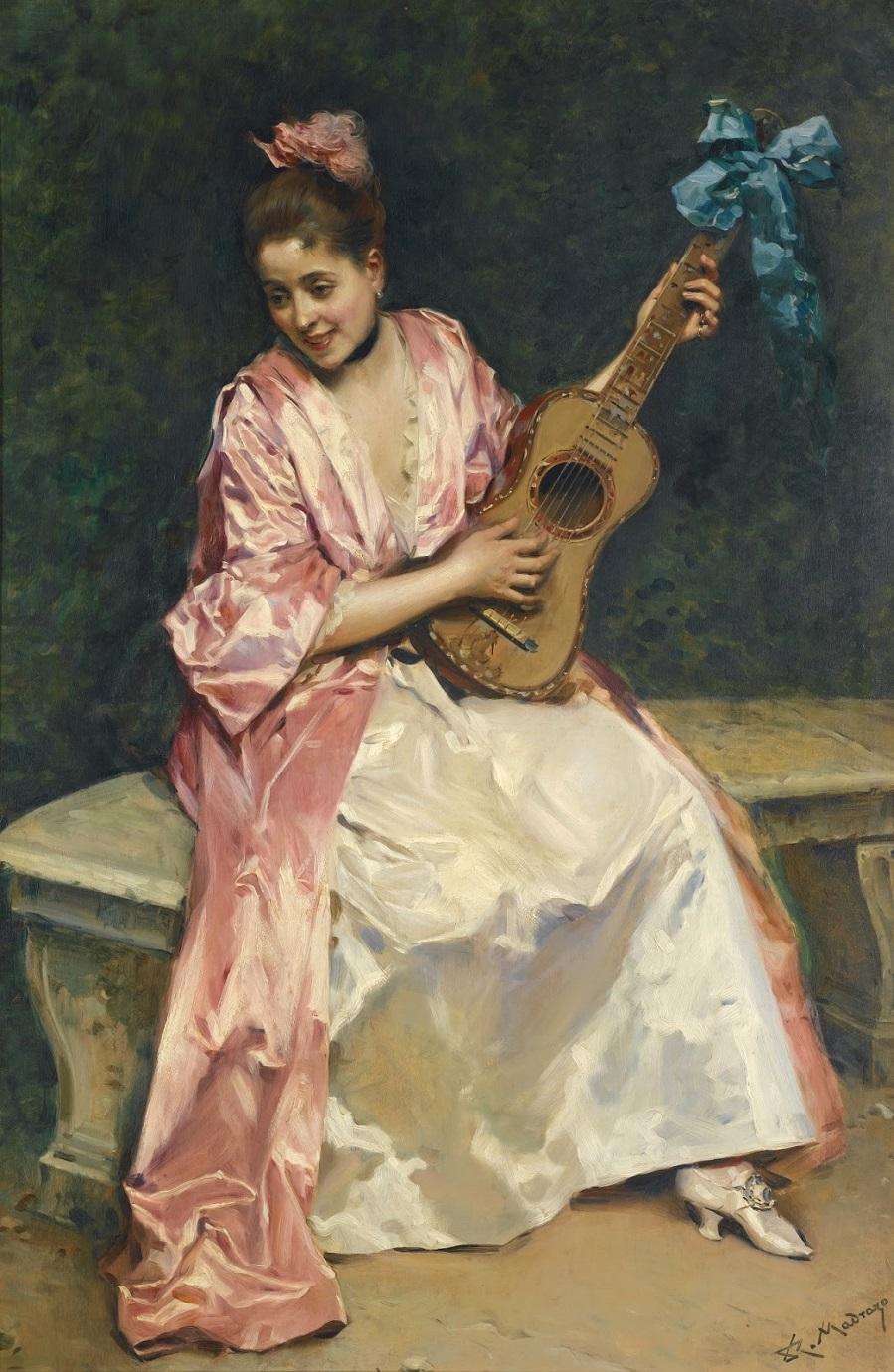 Алина Масон с гитарой_96 х 64_д.,м._Частное собрание.jpg