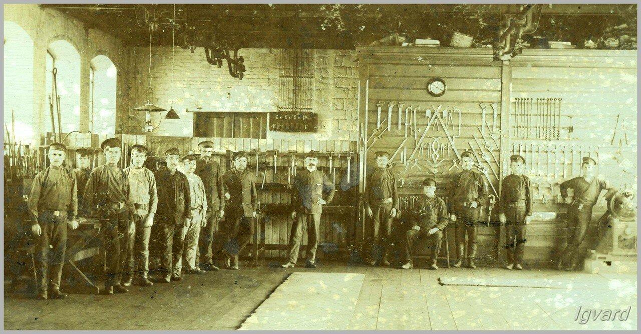 Инструментальный цех депо.  1909