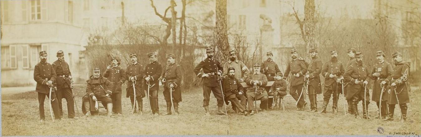Национальная гвардия. Групповой портрет 97-го батальона
