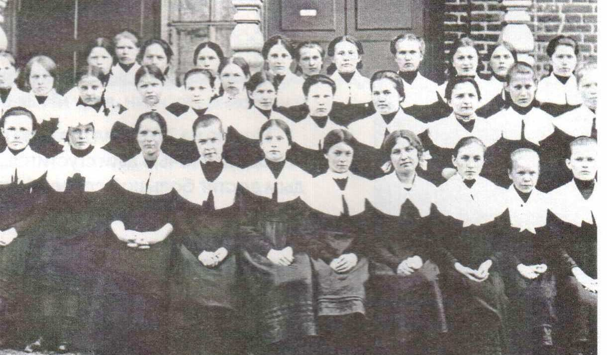 Воспитанницы Мариинской женской гимназии