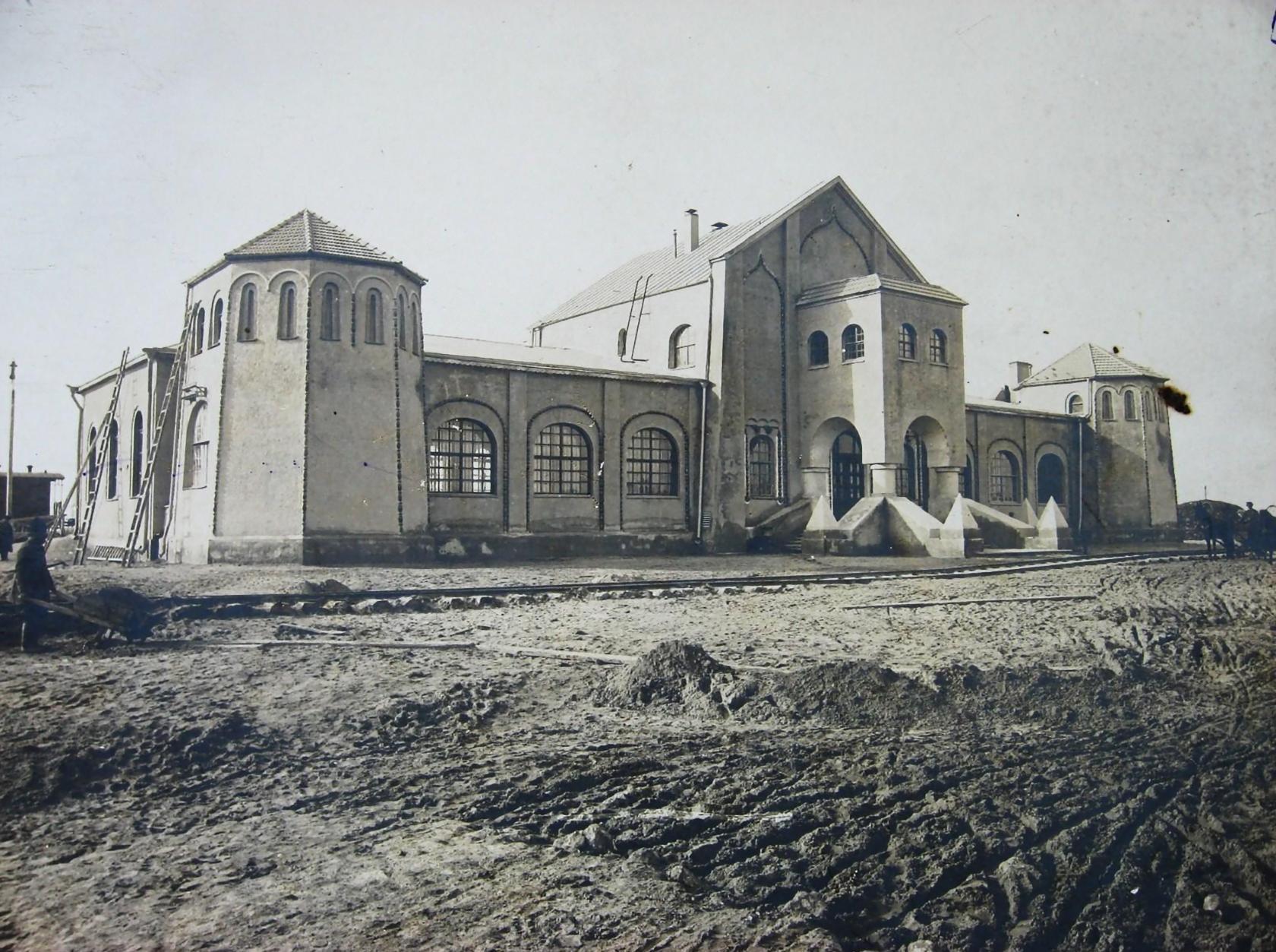 Строительство Муромского вокзала Московско-Казанской ж.дороги. Около 1912 года