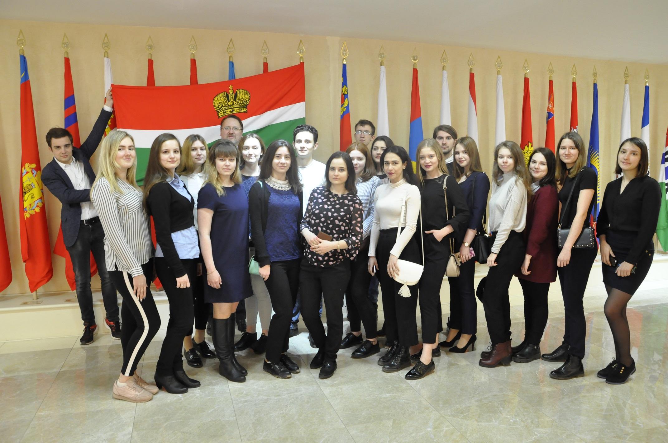 Юрий Волков встретился в Совете Федерации с калужскими студентами