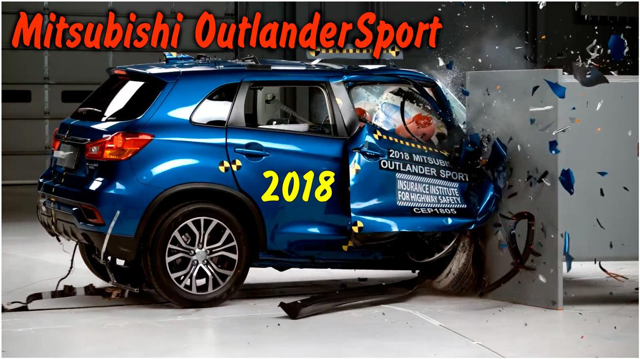 Фронтальный краш тест Mitsubishi Outlander Sport 2018