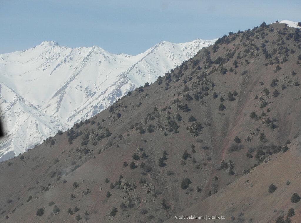 Трасса Ош-Ташкент, горы на перевале Кимчик