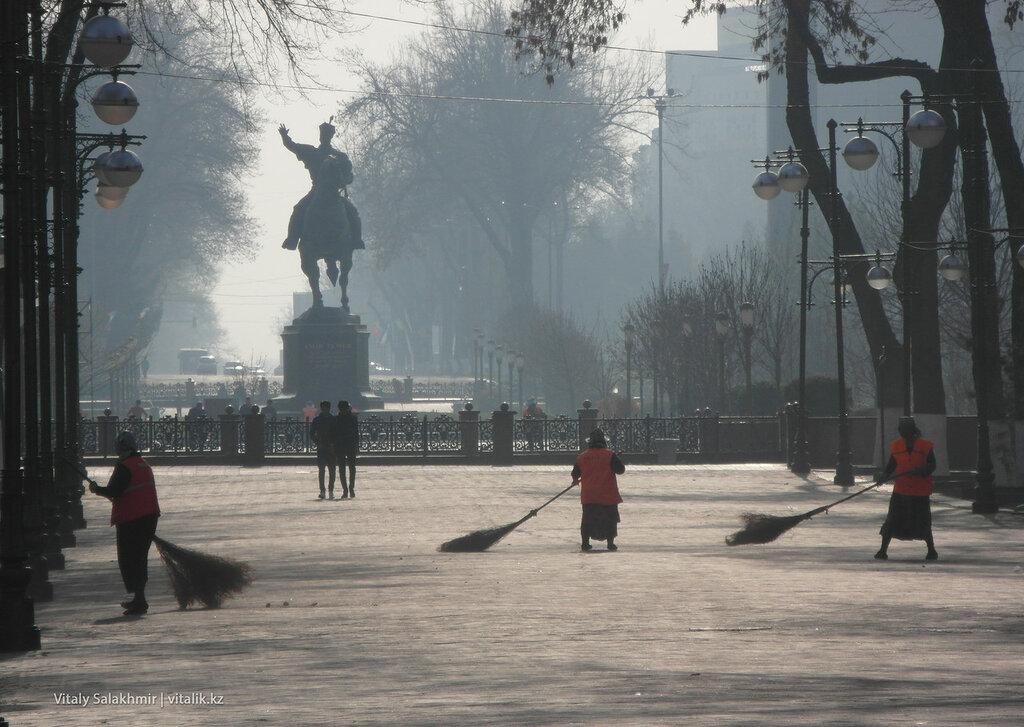 Уборка Ташкента