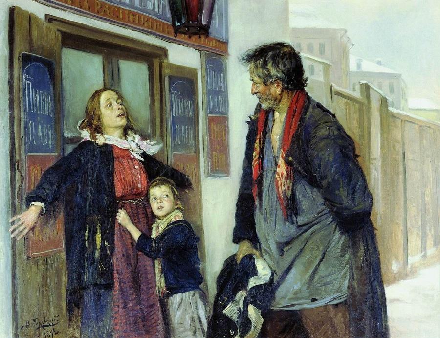 Не пущу!. 1892  Киевский национальный музей русского искусства, Украина.
