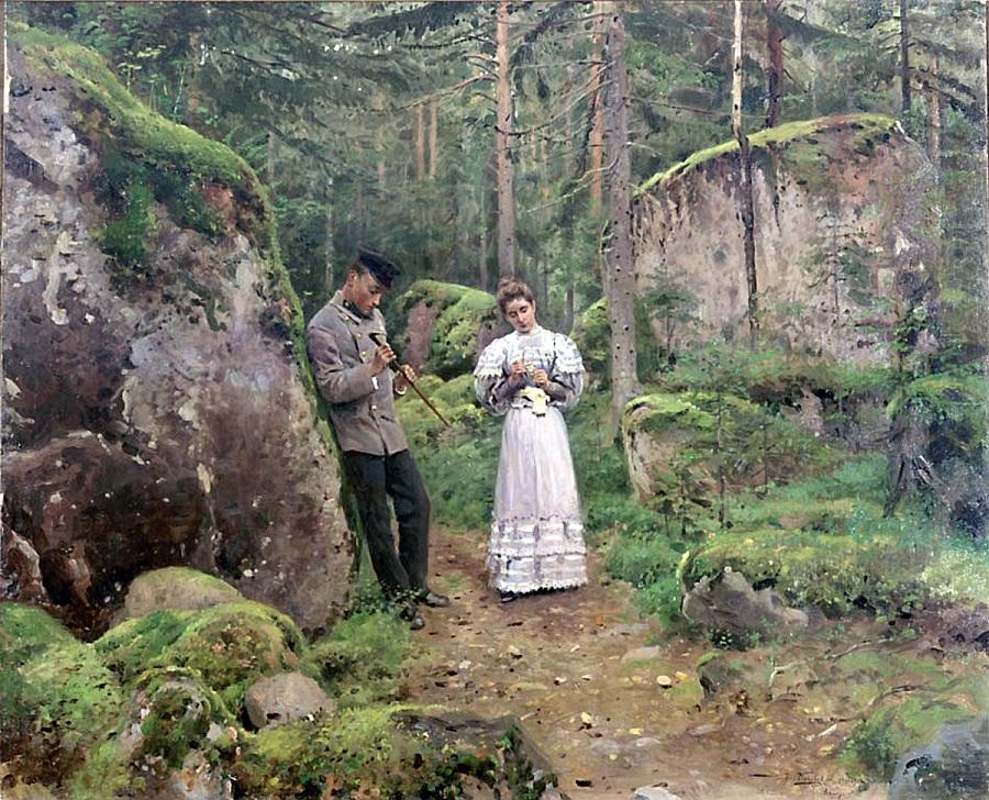 Перед объяснением (Свидание). 1898-1900 Самарский областной художественный музей