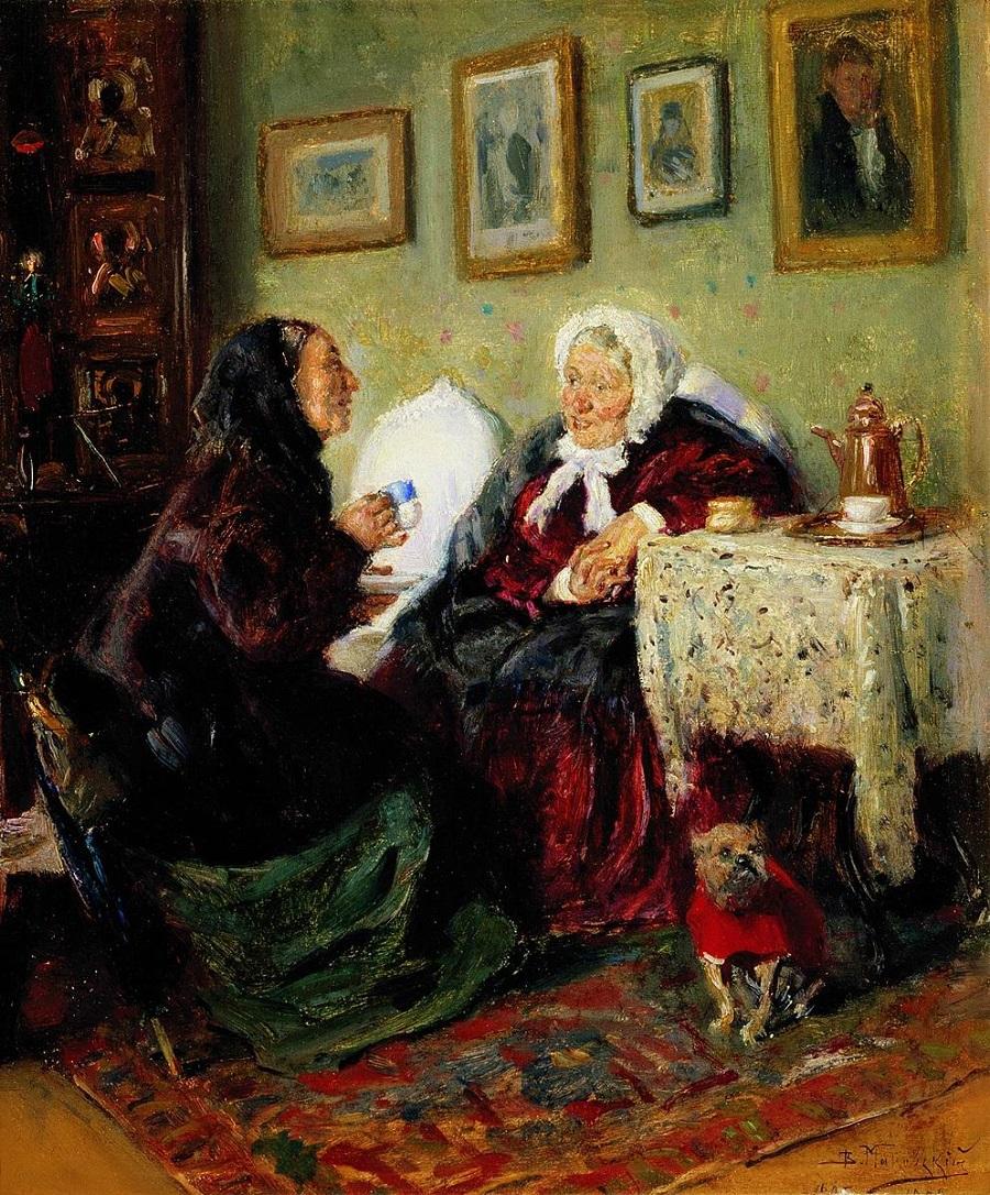 Тет-а-тет 1885-1905  Государственная Третьяковская галерея, Москва.