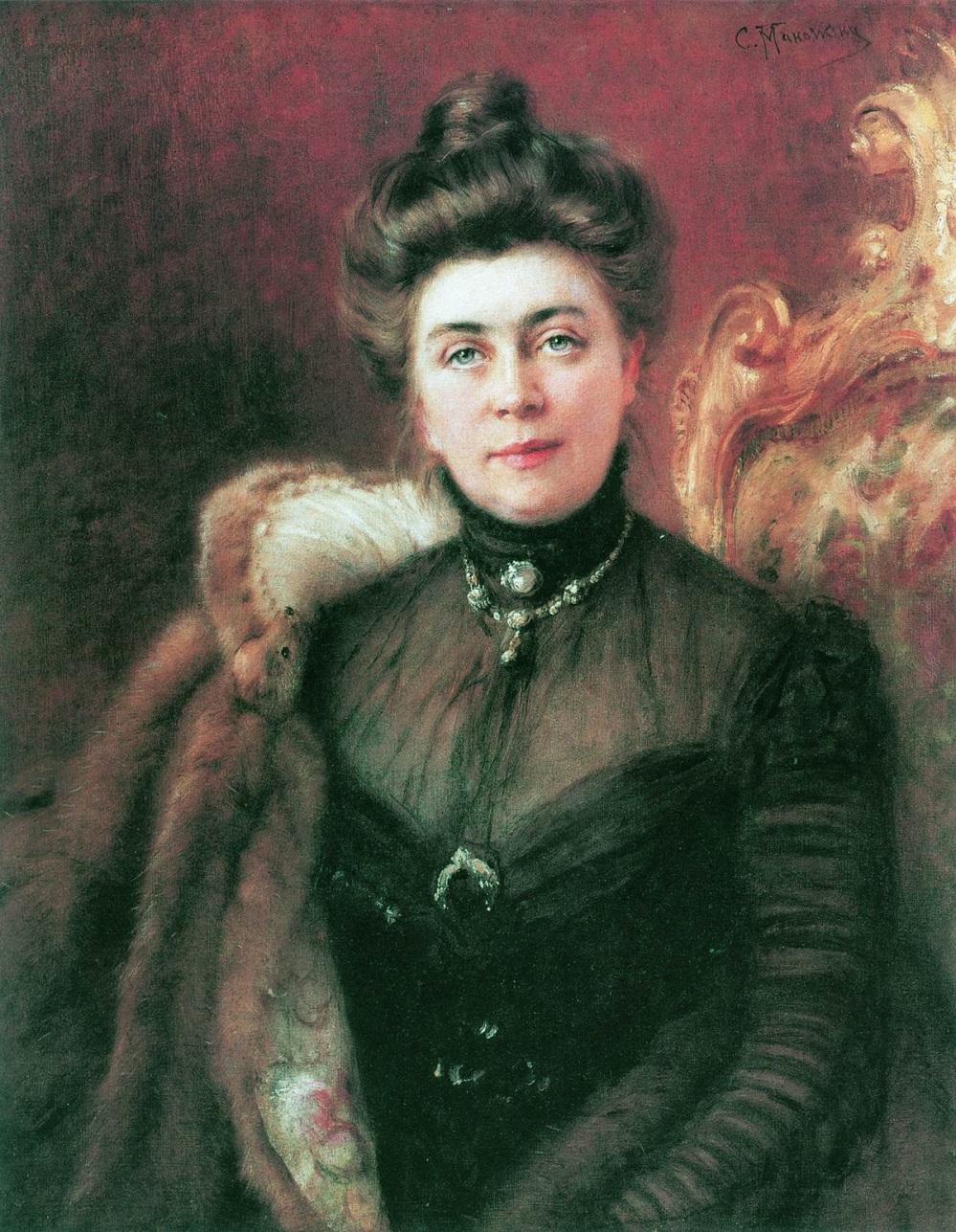 Портрет А.И.Сувориной. 1880-е  Государственный Русский музей, С.-Петербург.