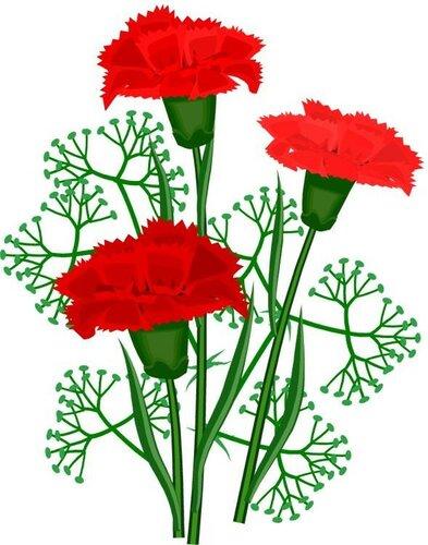 Открытка. С Днем Победы! 9 мая. Три гвоздики открытка поздравление картинка