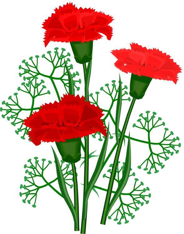 Открытка. С Днем Победы! 9 мая. Три гвоздики открытки фото рисунки картинки поздравления