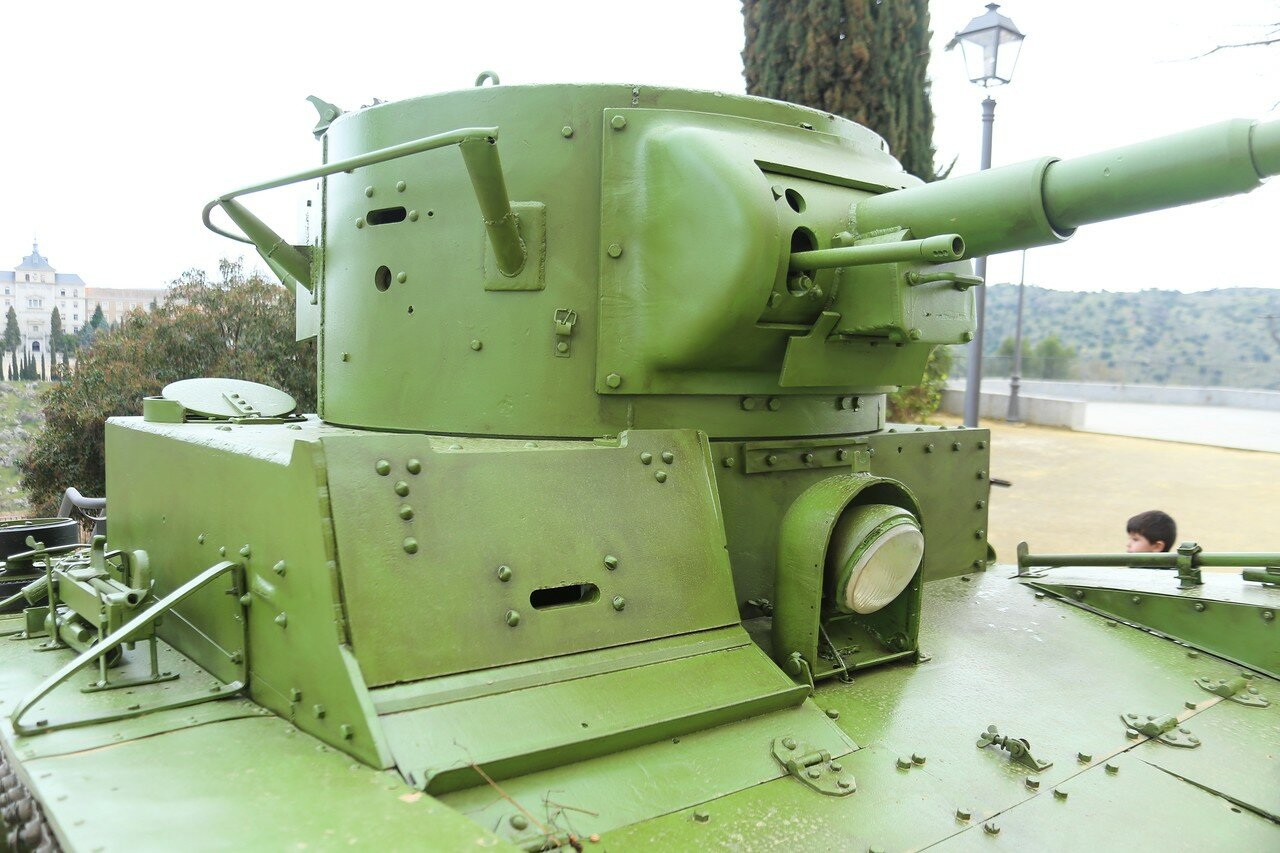 T-26, Soviet light infantry tank (Toledo Alcazar)
