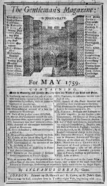 Первый журнал, 1731 год Журнал The Gentleman's Magazine («Журнал для джентльменов») начал издаваться