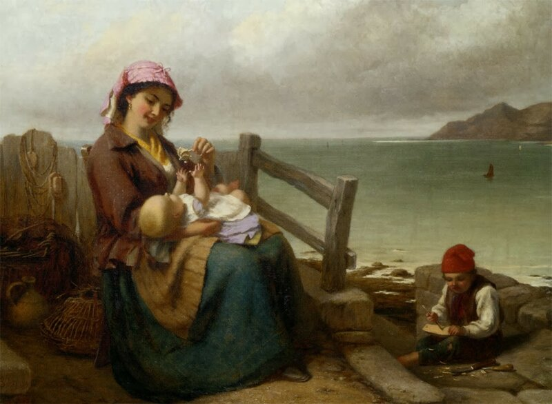 3 Brooks_Thomas_Mother_And_Child_by_the_Seaside_1869_Oil_On_Canvas-large.jpg