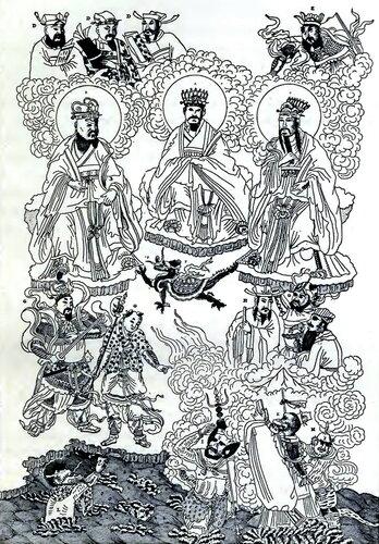 главные субъекты китайского пантеона в «Иллюстрированной энциклопедии Китайской Империи»