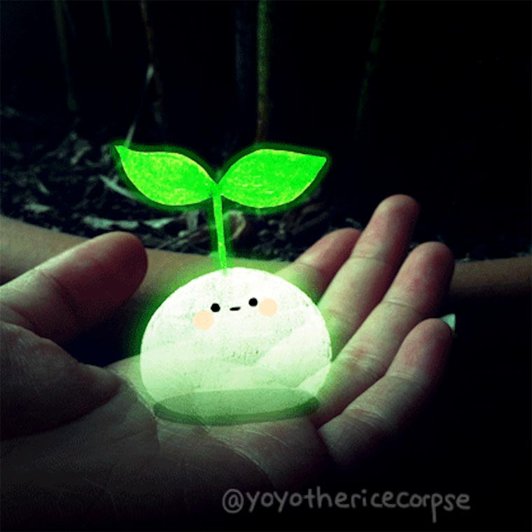 Yoyo the Ricecorpse - Des GIFs animes adorables dessines sur des photos