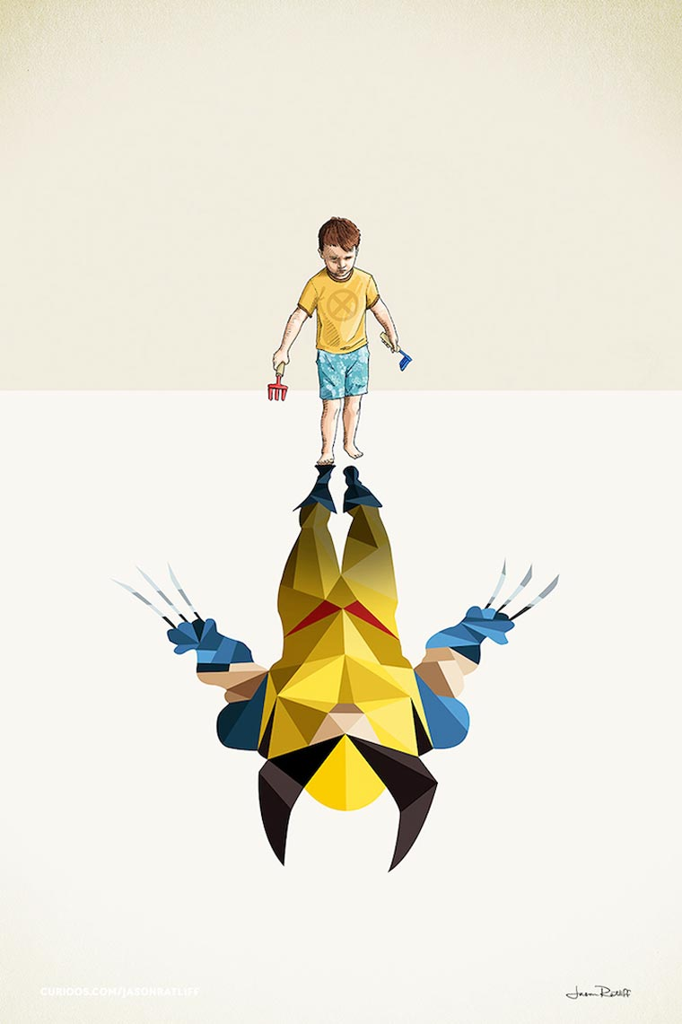 Super Shadows - When superheroes come out of the imagination of children