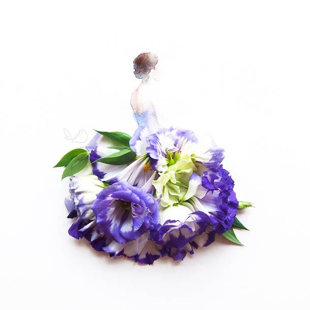 Flower Dress - De jolies robes en petales de fleurs