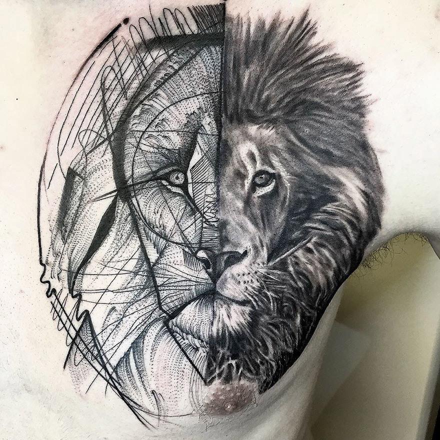 A Beleza das Tatuagens em Estilo Rascunho de Frank Carrilho (11 pics)
