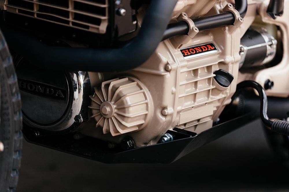 Brick House Builds: скрэмблер Honda CX500 Ranger Green