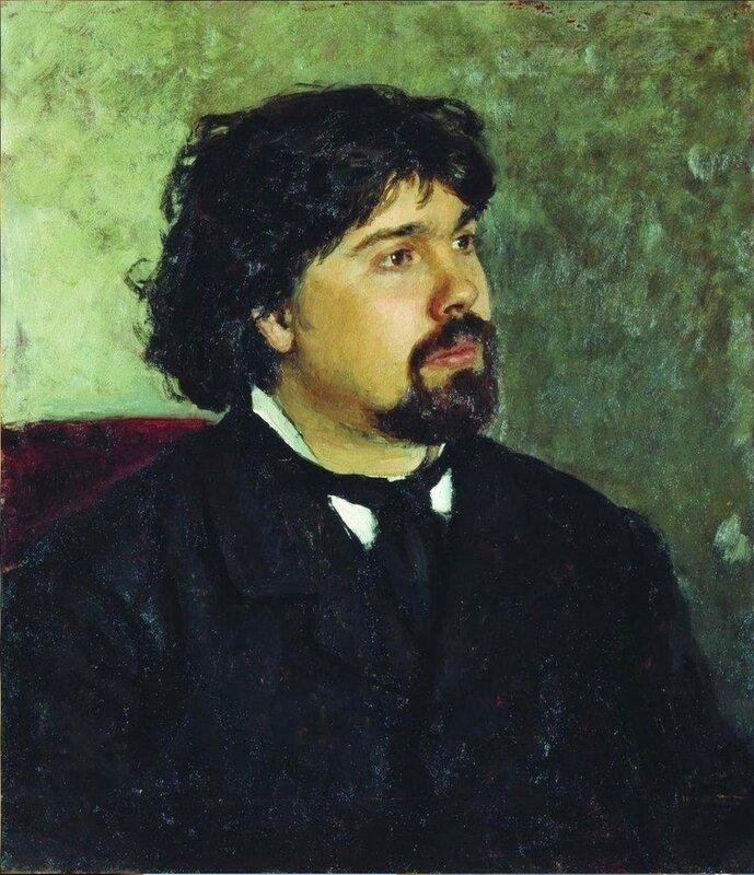 Портрет художника Василия Сурикова, 1877. Русский художник Илья Ефимович Репин.jpg