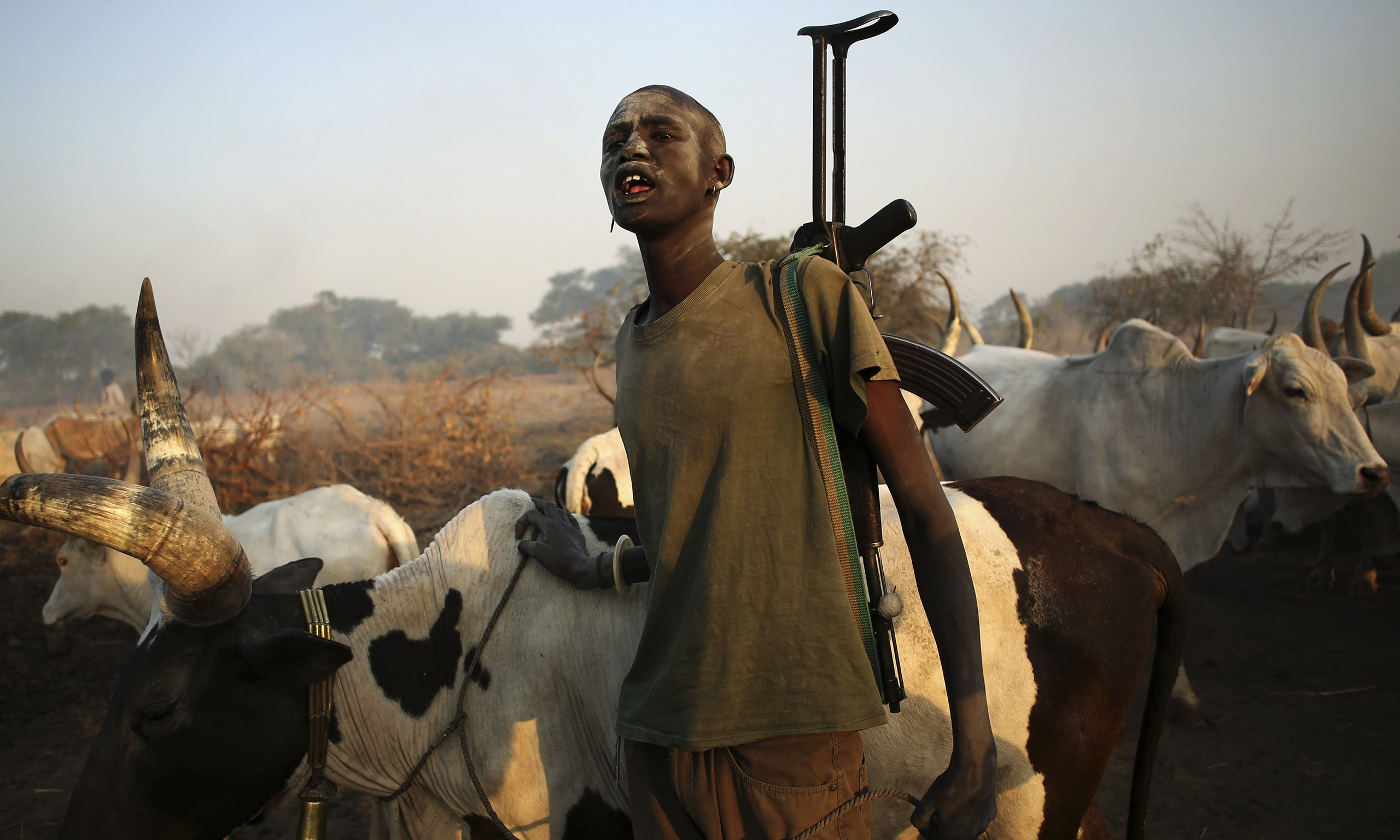South Sudan cattle herder