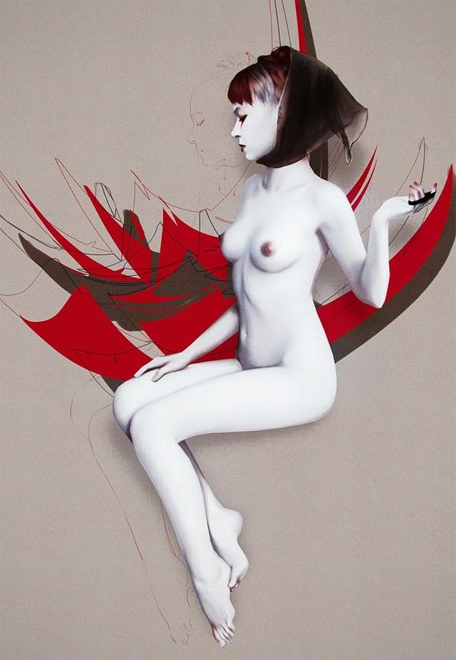 Обнаженные девушки на иллюстрациях Джейса Уоллеса