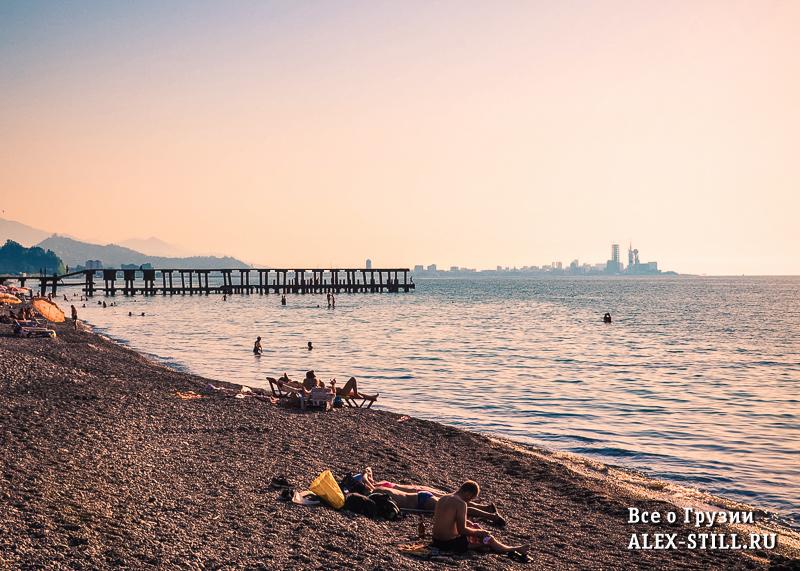 Пляж Зеленый мыс (Батуми) находится не в самом городе