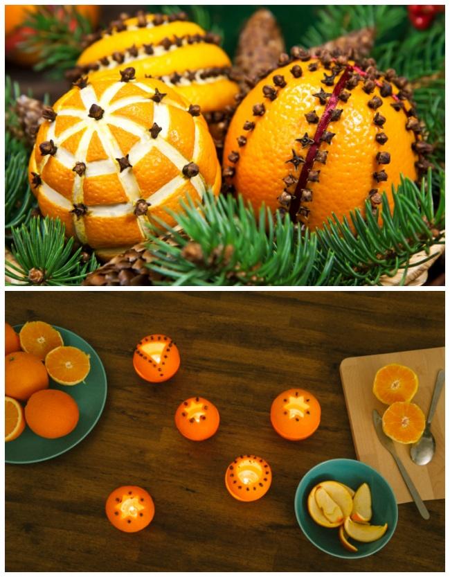 © handimania  © homemadehomeideas  Апельсины игвоздика наполнят ваш дом свежим ипряным