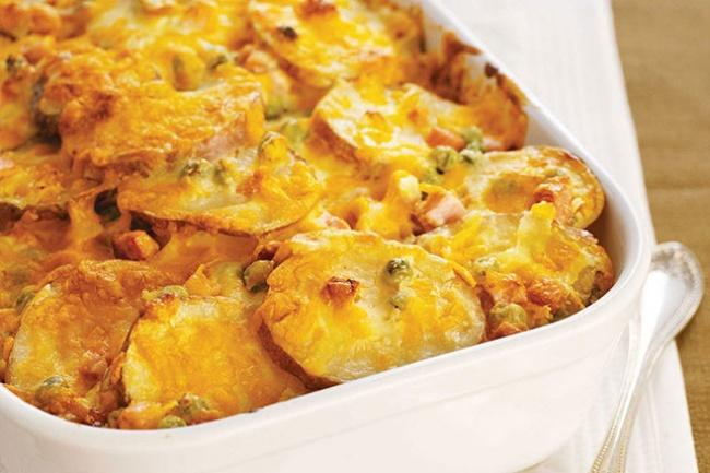 © kraftrecipes  Рецепт. Ингредиенты (на 8 порций): 12 картофелин 2 стакана 30%-ных сливок 2 зу