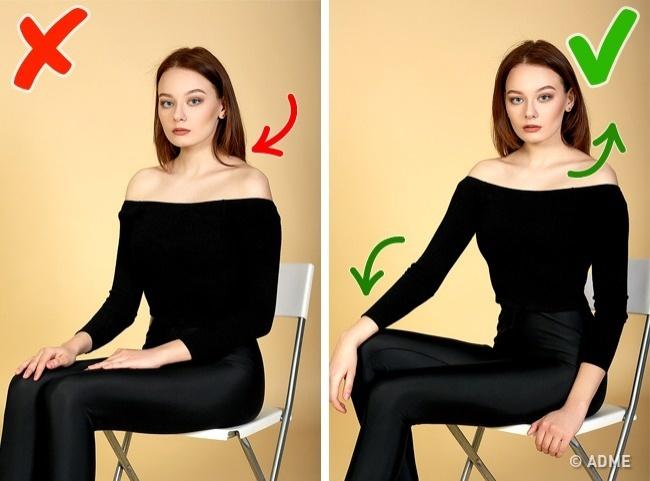 Проблема: если верхняя часть тела слишком сильно отвернута откамеры, топлечи будут казаться круглы