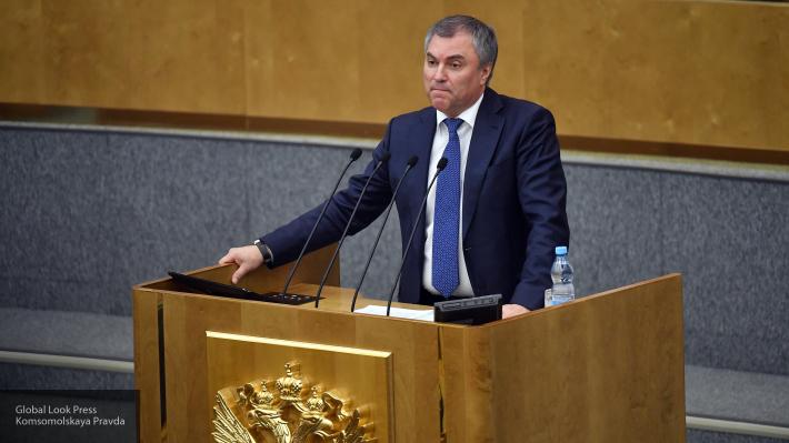 Володин прервал речь Ткачева натему власти в РФ