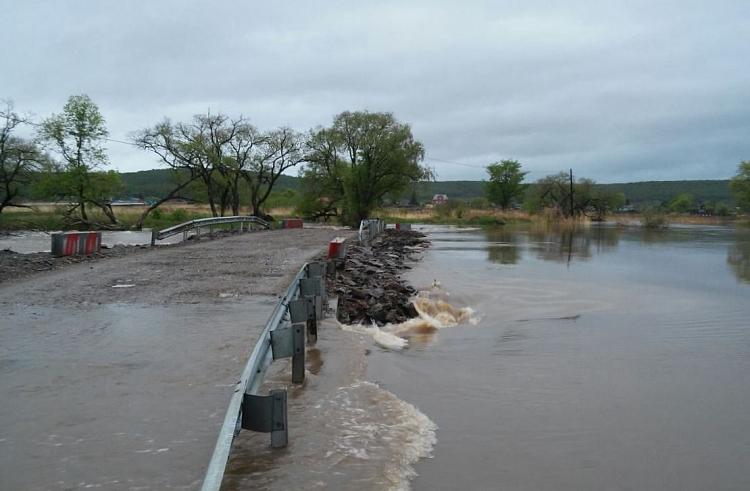 Два села вПриморье отрезаны от«большой земли» паводком