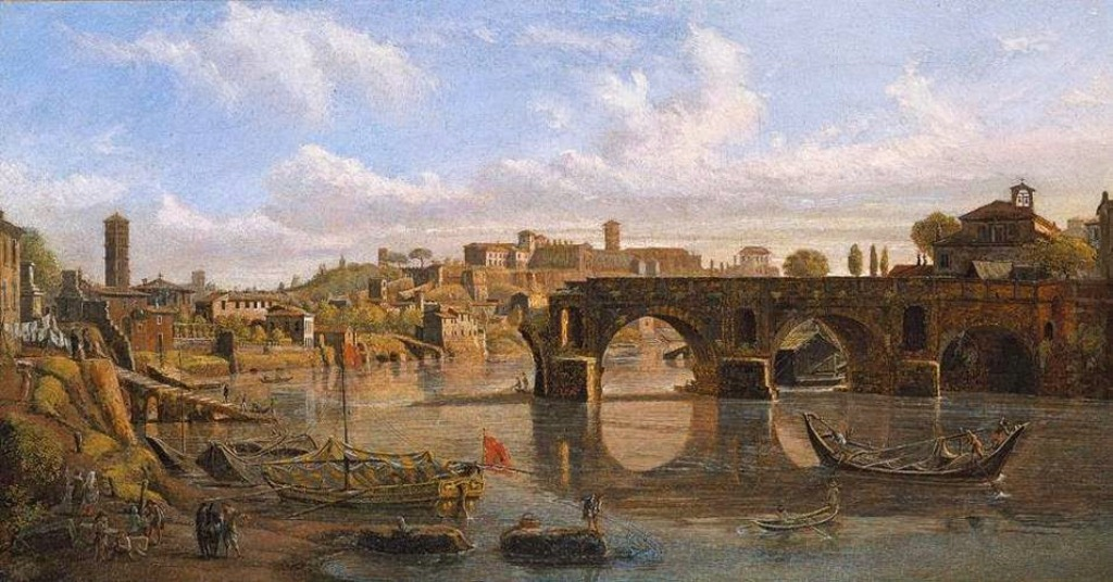 2 Casper van Wittel - View of the river Tiber in Rome.jpg