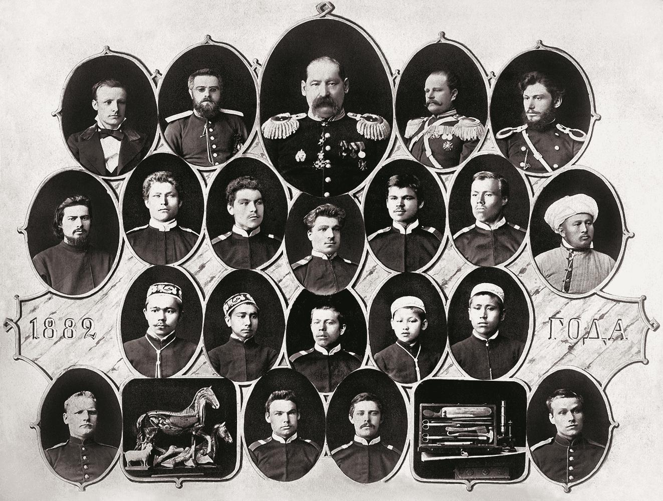 1st edition of the Military veterinary - medical assistant school of the Siberian Cossack army in Omsk. 1882