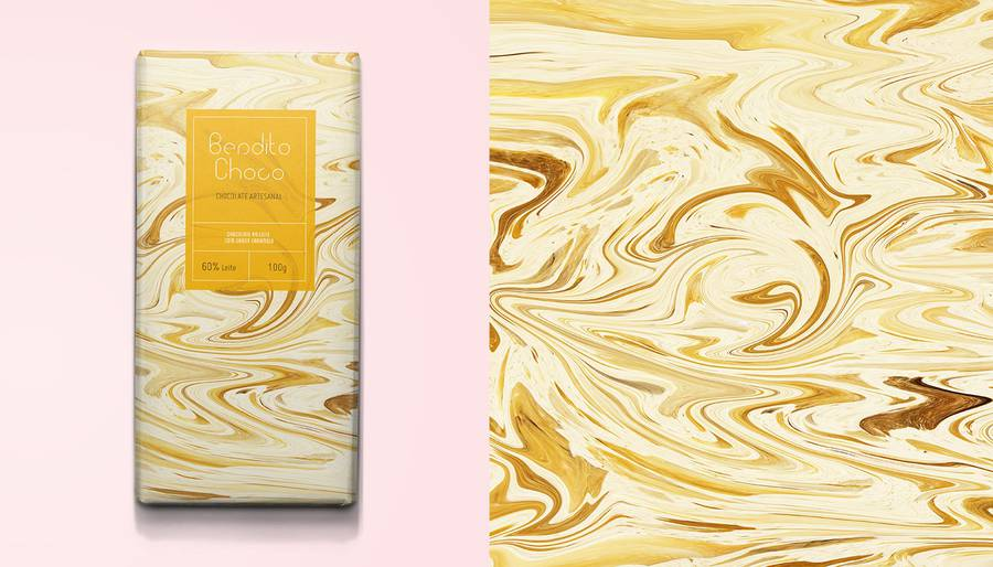 Marbled Packaging for Fine Chocolate