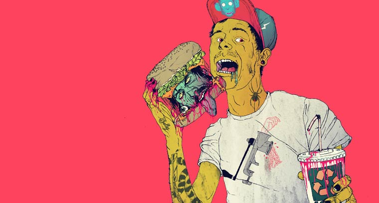 Over My Dead Body - Les illustrations trash et explosives de Boneface