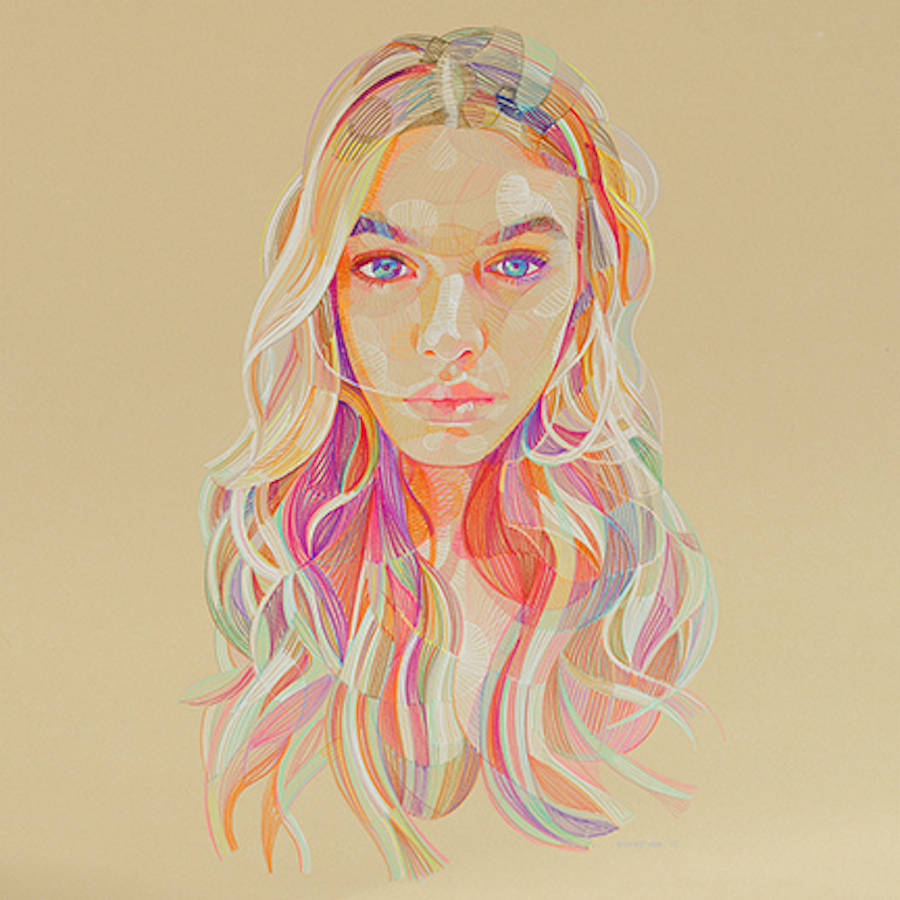 Colorful and Realistic Illustrations of Hands and Faces