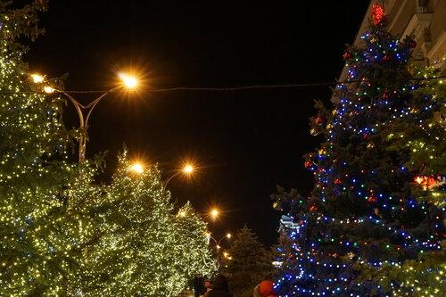 Новогодние ёлки на Театральной площади