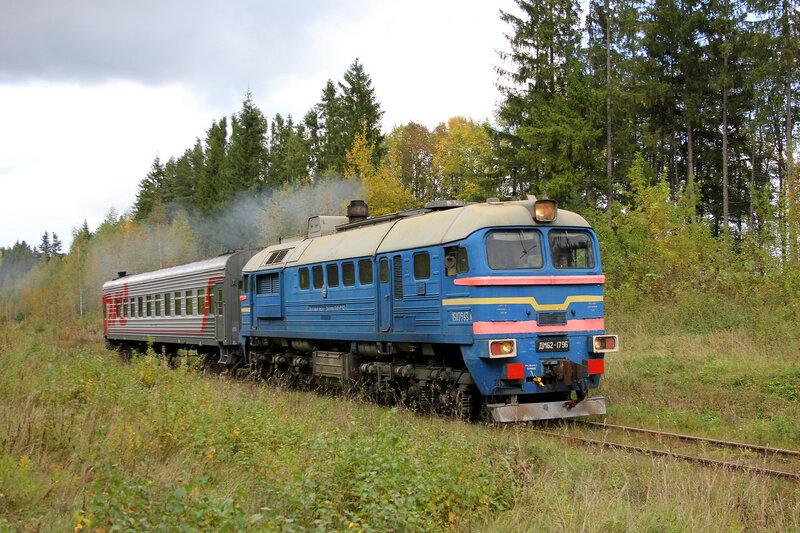 ДМ62-1796 с поездом 6983 Весьегонск — Сонково у платформы Ивановские казармы, 358 км