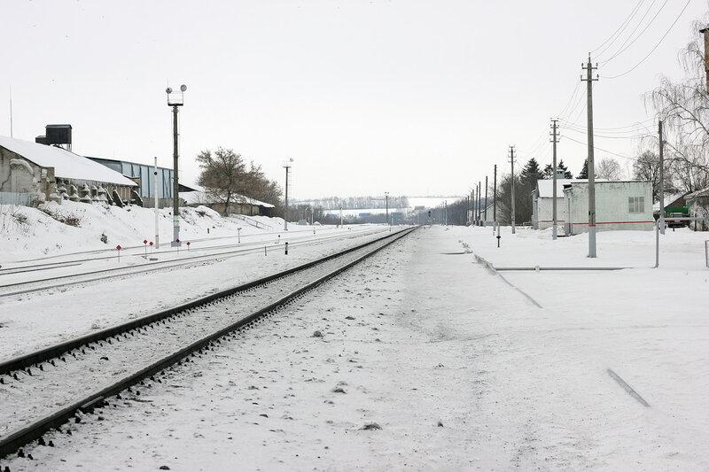 Станция Залегощь. Вид на Орёл. Платформа