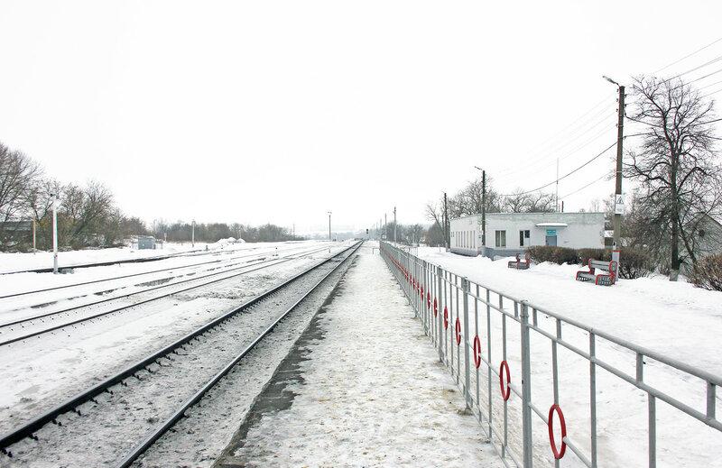 Станция Залегощь, вид на Орёл