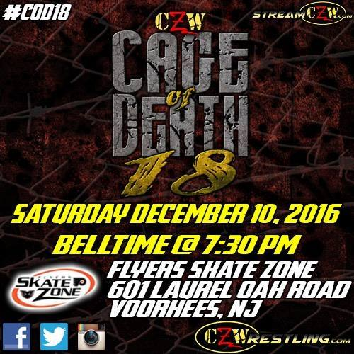 Post image of CZW Cage of Death 18