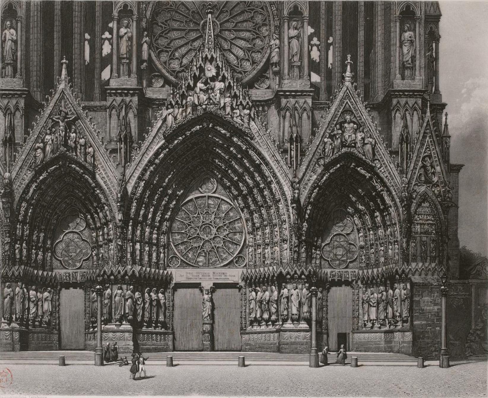 Франция. Реймсский собор (фрагмент)