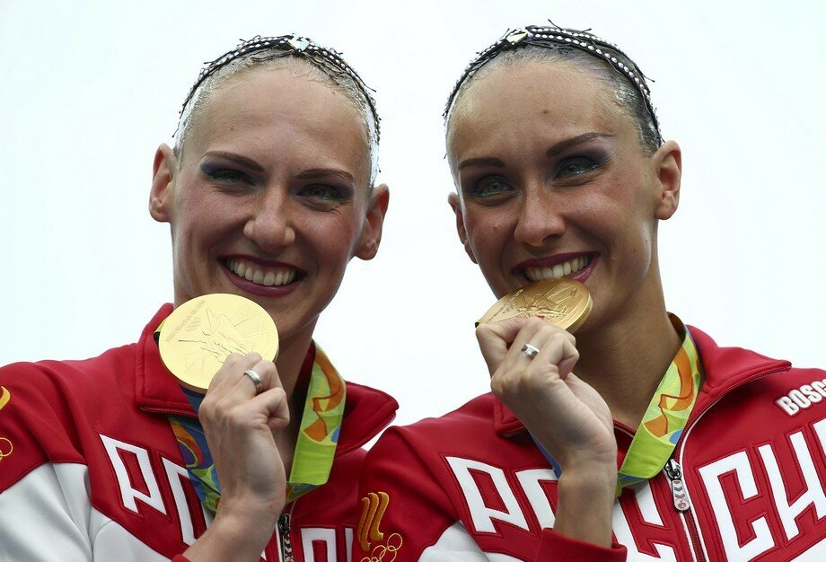Synchronised Swimming - Duets Free Routine - Victory Ceremony