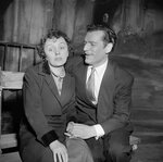 Eddie Constantine et Edith Piaf