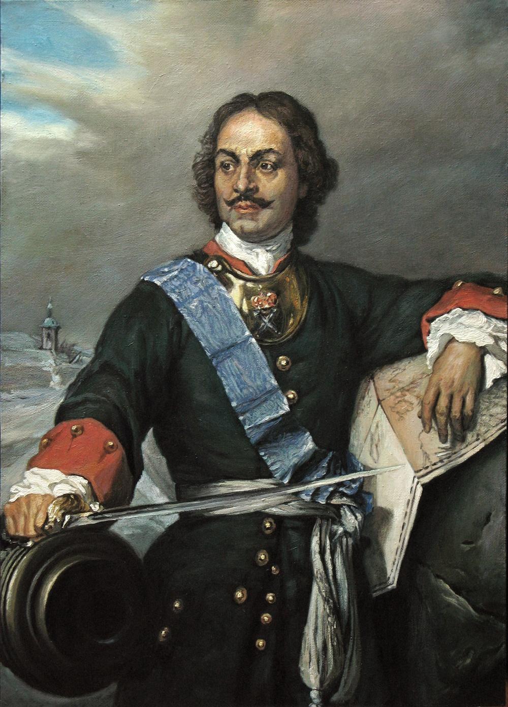 Поль Деларош, «Портрет Петра I», 1838