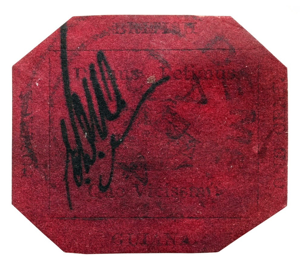 Стандартная марка номиналом в 1 цент была выпущена ограниченным тиражом в Британской Гвиане (ны