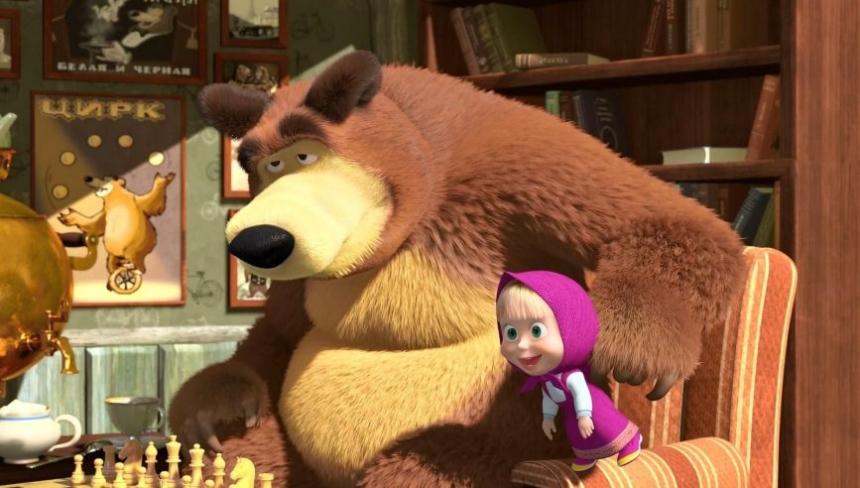 Spiegel поведал омировом успехе мультфильма «Маша иМедведь»