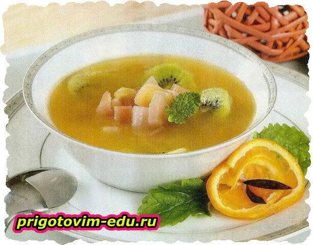 Холодный суп из экзотических фруктов
